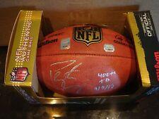 Peyton Manning signed NFL Football 400+ TD's