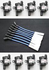 Blue 8.5mm Ceramic Spark Plug Wires Coil Packs 1999-07 GMC 4.8L 5.3L 6.0L LS1 V8