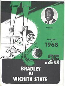 1968 1/4 basketball program Wichita State Shockers v Bradley Braves Al Smith VG