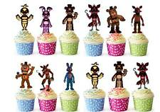 30 Five Nights At Freddys Edible Cup Cake Fairy Toppers Premium Wafer STAND UPS