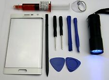 White Samsung Galaxy Note Edge N915 Outer Screen Glass Lens Replacement Kit