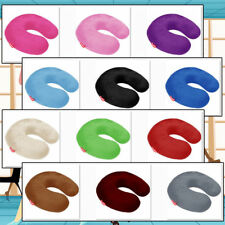 BookishBunny Memory Foam U Shape Travel Neck Pillow Airplane Cushion Multi Color