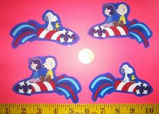 New! Cool! Snoopy 4th of July IRON-ONS FABRIC APPLIQUES IRON-ONS