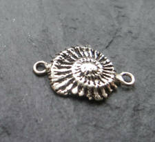 Sterling Silver ammonite fossile connecteur argent Fossil Charm Connector