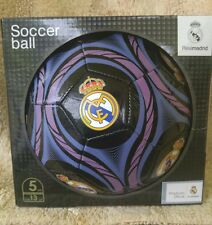 Real Madrid Football Soccer Ball Black Size 5 with official Logo