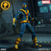 """1X 6""""Anime Doll Mezco toy Marvel Super Hero Deadpool Blue Ver Figure X-men Model"""