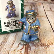 Fitz & Floyd Enchanted Forest Holiday Hamlet Bear Train Conductor Christmas 1993