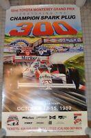 VTG Original 1989 32and Toyota Monterey Grand Prix Laguna Seca Raceway Poster