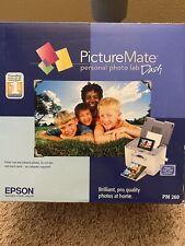 NEW Epson PictureMate Dash Personal Digital Photo Lab Inkjet Printer PM 260