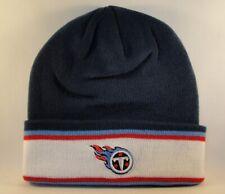 Tennessee Titans NFL Knit Hat Navy White Red Blue Stripe Cuff