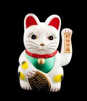 Enorme Gato Japonés Blanco 45cm Maneki Neko Cauce Animados 40632