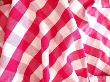 Vintage Red White Gingham Picnic Blanket Christmas Table Cloth Holiday 81 x 56