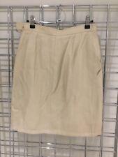 YVES SAINT LAURENT YSL Cream Linen Blend Pencil Skirt, UK 10 US 6 EU 38 Lined