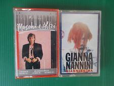 GIANNA NANNINI MASCHI E ALTRI++GIANNISSIMA MUSICASSETTA K7 TAPE COME NUOVE