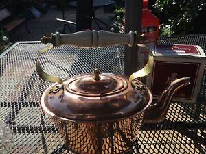 Antique Arts & Crafts Copper &  Brass Kettle
