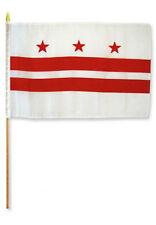 "12x18 12""x18"" State of Washington DC Stick Flag wood Staff"