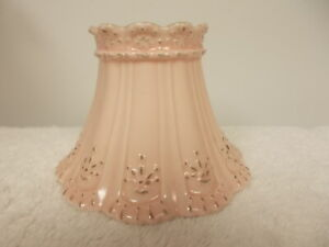 Yankee Candle Scallop Pink Porcelain Small Jar Shade Topper