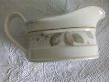 Gravy Boat, Steelite International, England, cream ceramic in Bramble pattern