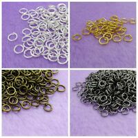 Wholesale Open Jump Rings Silver/Gold/Bronze/Black Color 4/5/6/7/8mm 0.7mm thick