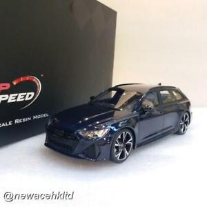 Audi RS 6 Avant Carbon Black Navarra Blue Metallic TopSpeed 1/18 #TS0315