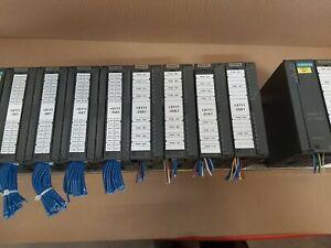 Siemens Simatic S7 2x ET-200M with 4x I/O Cards & 3x A/I & 1x A/O & Rail