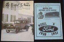 "Model ""A"" News, Jan./Feb. 1982 and  Motor City Antique Auto Supply Parts Catalog"