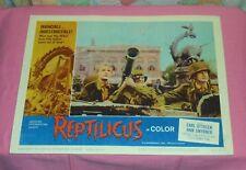 original REPTILICUS lobby card #7 Carl Ottosen Ann Smyrner