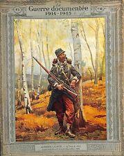 Poilu Soldat Uniforme Fusil Pantalon Rouge d'Alphonse Lalauze Peintre 1915 WWI