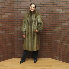 SALE! FREE SHIP! ladies WARM & AFFORDABLE! Canadian BROWN BEAVER FUR COAT!  S/M