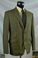 "Vintage Earth Tones H-Bone Twill Tweed wth Tkt Pocket & ""Bone"" Butns (Size 40R)"