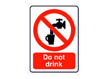 Danger do not drink bathroom toilet  retro vintage style metal wall plaque sign