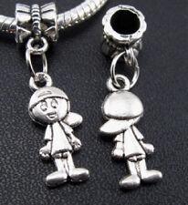Charms pareja de niños plata pulsera europea y compatibles 2 unidades