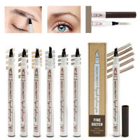 5 Colors Microblading Tattoo Eyebrow Ink Fork Tip Pen Eye Brow 3D Makeup Pencil