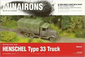 Minairons Miniatures 1/72 Henschel Type 33 Truck