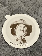Vintage Dixie Cup Ice Cream Lid With Movie Stars ~ Gabby Hayes