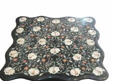 End Marble 3'x3' center coffee Dining Table Top Inlay Mosaic Marquetry malachite