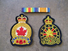 Wwi Canada Canadian Legion Patch Honor Felt Ribbon Bar Lot 3pc