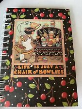 Mary Engelbreit Notebook Cherries Pocket Sized 3 1/2 X 5 Inches Spiral New