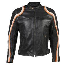 Blousons longueur hanches en cuir de vache coude pour motocyclette