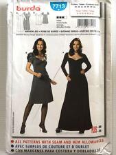 BURDA 7713 Dress Pattern Sz 12-24 NEW UNCUT - 2 Lengths & Sleeve Lengths