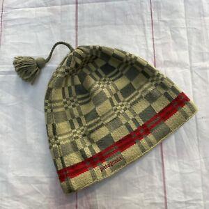 Vintage Patagonia Pattern Skull Beanie Cap Hat Made In France Worn Wear Wool 00s