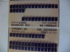 n°h339 lot  2 microfiche d'epoque citroen c35   n°213