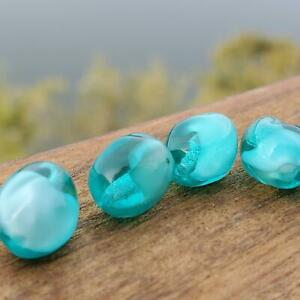 Vintage Baroque Teal Green Givre with Cloud 9mm Glass Beads DIY Jewelry Making