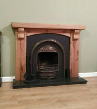 Solid Oak Fireplace Surround, Rustic Oak Beam, fireplace surround with corbels