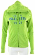 HOLLISTER Womens Hoodie Sweater Size 14 Large Green Cotton  HQ02