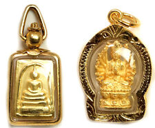 phra somdej toh wat rakang & Guan yin thai amulet the best holy old Antique 2 pc