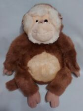 "Commonwealth Monkey Ape Brown White Two Toned Plush Stuffed Toy 14"" 2000"
