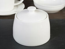 M by MIKASA White Vitrified Porcelain SUGAR BOWL With Lid