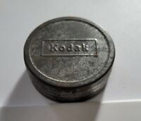 """Vintage Kodak 8mm Movie Tin Film Canisters Roll of Film Tag Metal Silver 2"""" Can"""