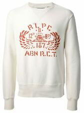 Polo Ralph Lauren Solid Wing Fleece Crewneck Sweatshirt in Size XL in White